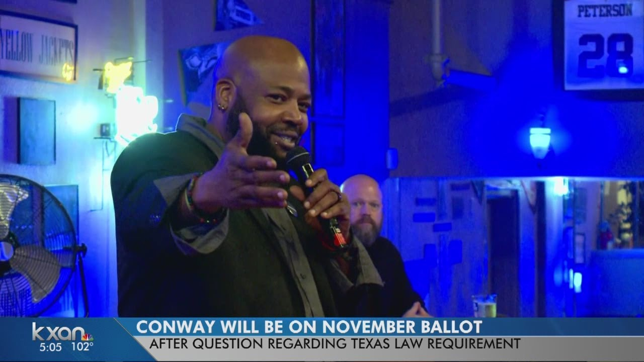 Lewis Conway Jr.'s name will be on the ballot for Austin City Council election in November
