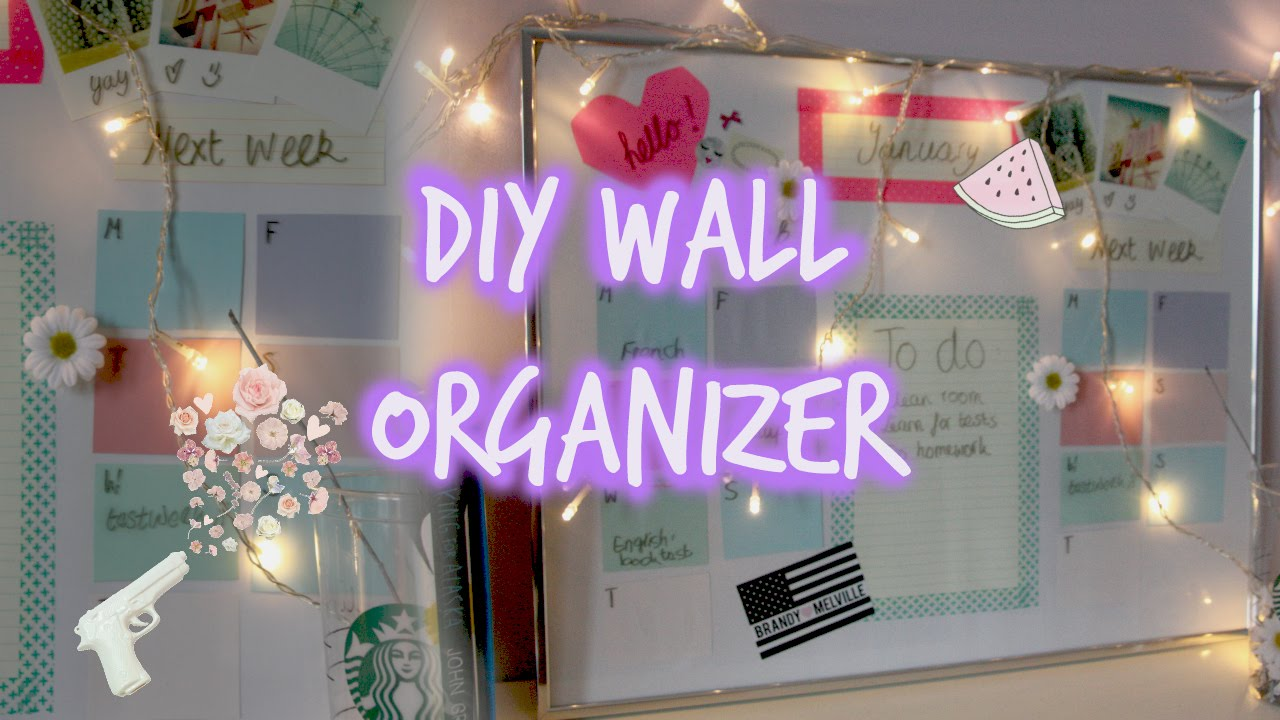 DIY Wall Organizer  Calendar  YouTube