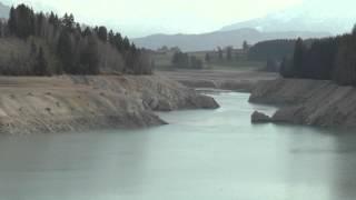Forggensee tiefster Wasserstand seit 60 Jahren