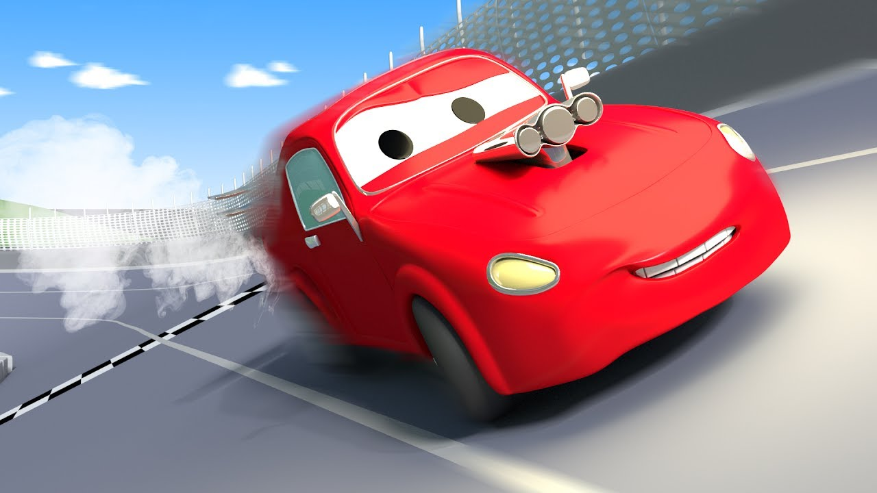 Tom The Tow Truck And Jerry Race Car In City Cars Construction Cartoon For Children