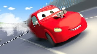 Tom The Tow Truck And Jerry The Race Car In Car City   Cars Construction Cartoon For Children