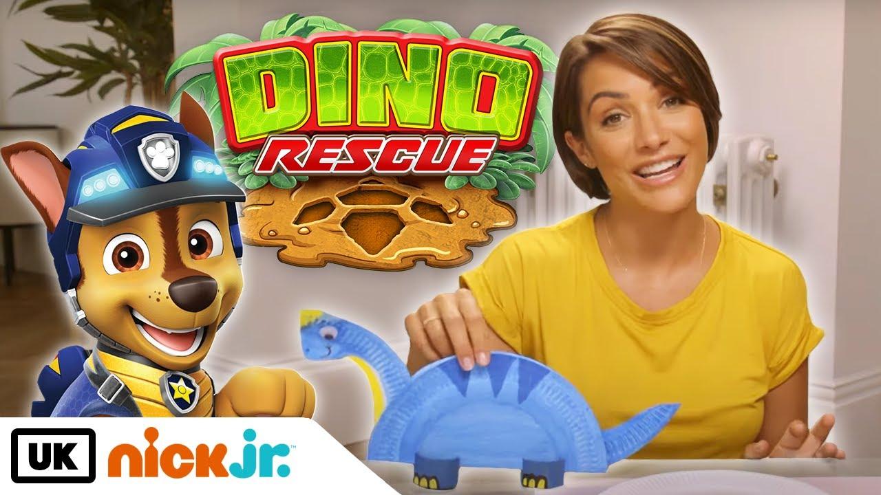 PAW Patrol | Dino Rescue Paper Plate Crafts w/Frankie! | Nick Jr. UK