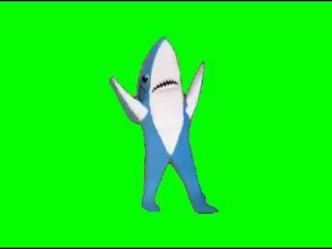 Гифка акула танцует без фона