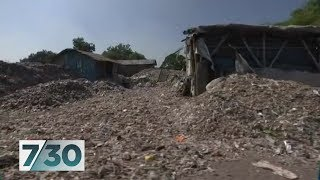 The piles of plastic waste swallowing villages in Indonesia | 7.30