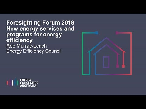 Rob Murray-Leach, Energy Efficiency Council- New energy services and programs for energy efficiency