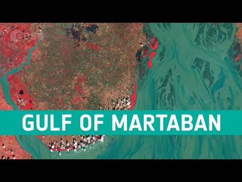 Earth from Space: Gulf of Martaban, Myanmar
