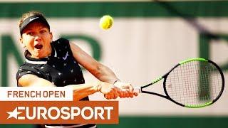 Simona Halep vs Iga Świątek Highlights   Roland Garros 2019 Round 4   Eurosport