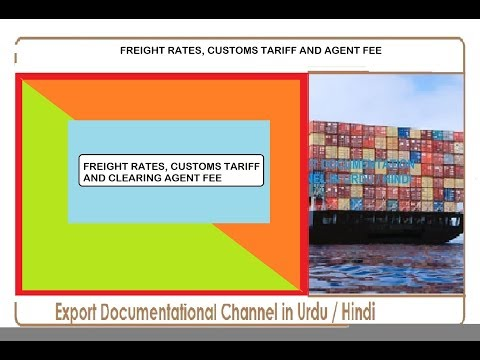 S.# 186 Freight Rates / Customs Tariff / Clearing Agent Fee.... in Urdu / Hindi