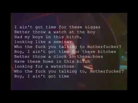Tyler The Creator - I Ain't Got Time (lyrics)