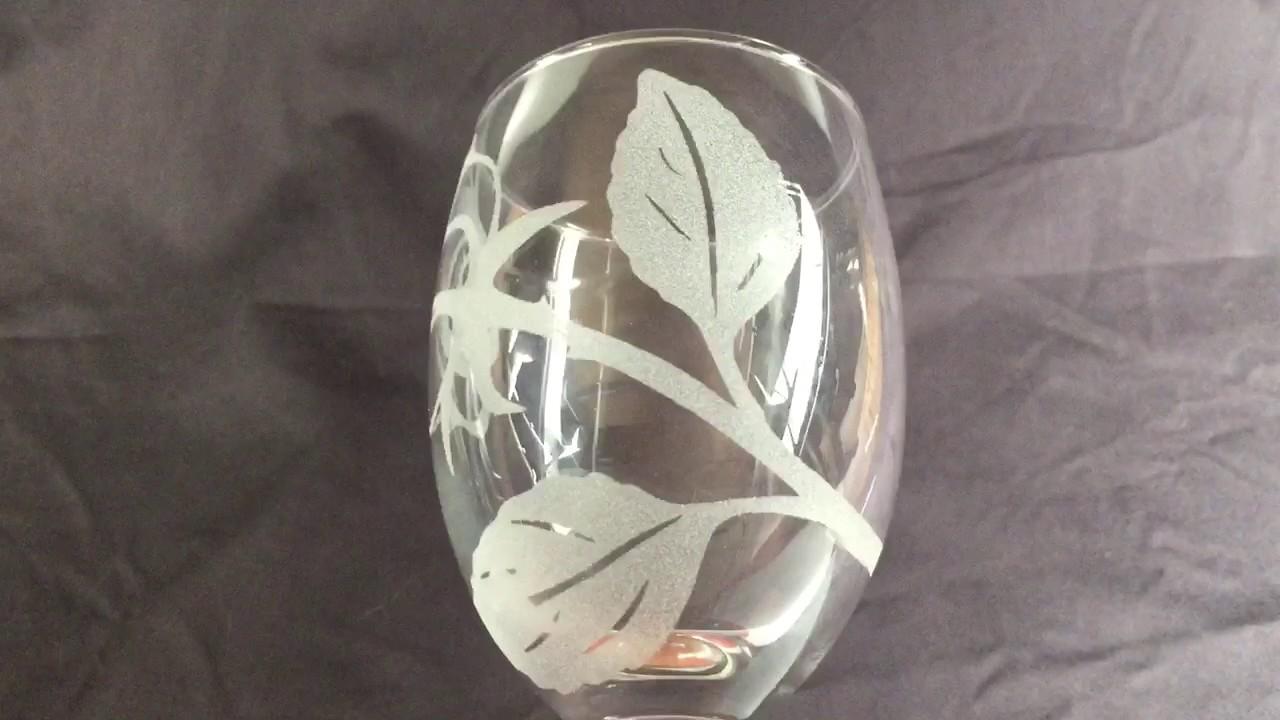 Laser engraved glass vs sandblasted glass