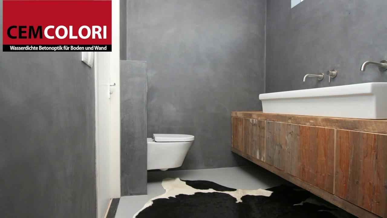 Cemcolori Wasserdichte Betonoptik für Boden und Wand