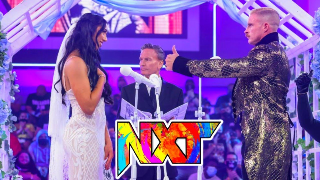 """Dexter Lumis says """"I Do"""" to Indi Hartwell at Wedding 