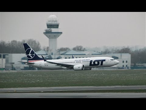 Insane LOT Boeing 737 MAX 8 Low Pass and landing | SP-LVA