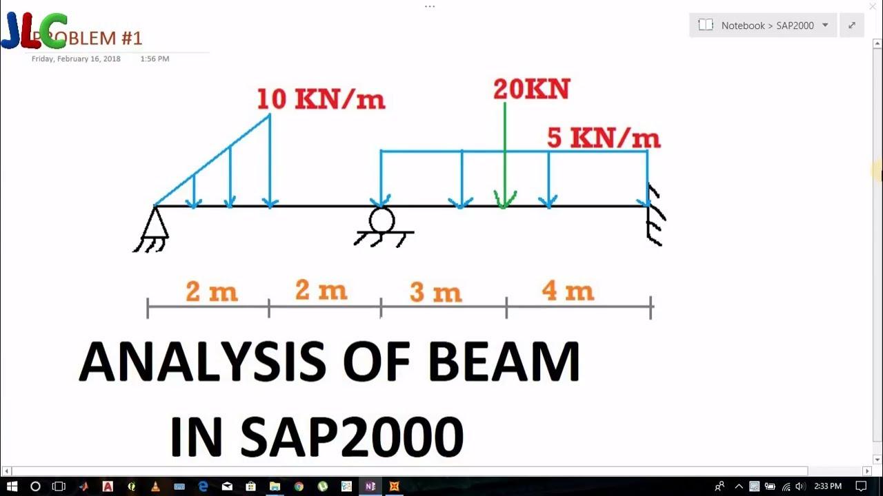 BEAM TUTORIAL #1- Analysis of Beam in SAP2000