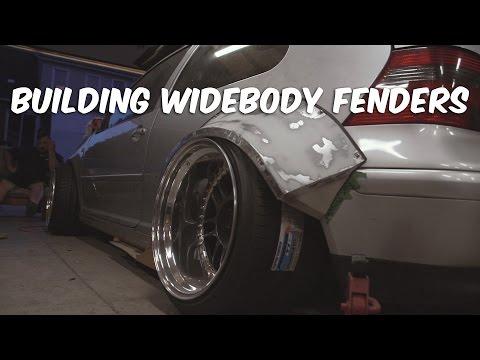 Building Metal Widebody Fenders Custom