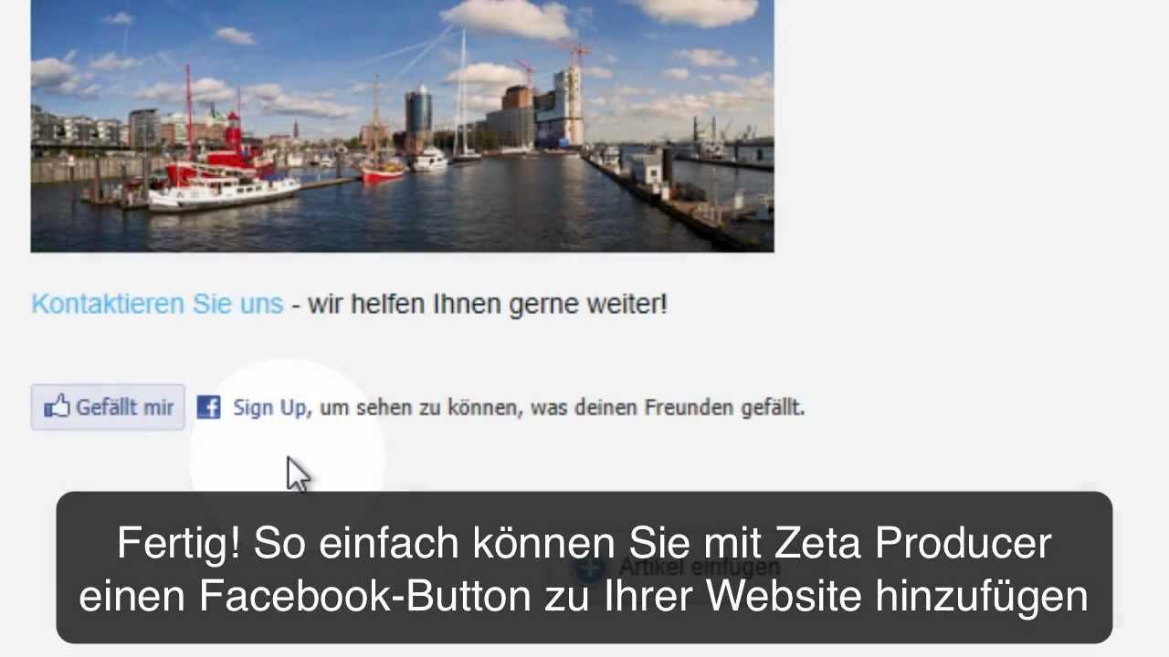 Facebook Auf Homepage