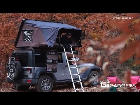 Ikamper Pop Out Tent On Your Car Roof Youtube