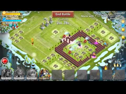 Castle Clash: Fishing The Quest With 3 Heros