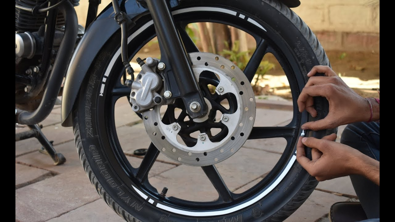 How to apply pulsar wheel sticker 2018