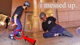 how i broke my foot skateboarding & my mindset going forward.