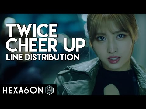 Twice  Cheer Up Line Distribution Color Coded