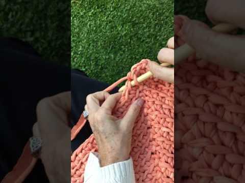 Crochet - Medio punto canalé - YouTube