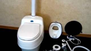 Туалет Separett Villa 9000: принцип работы