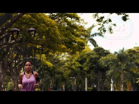 Girl Jogging in Slo-Mo