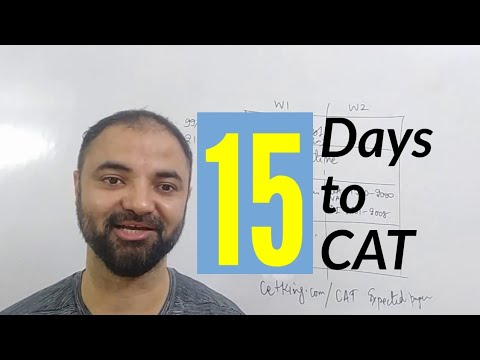 15 days to CAT exam. Strategy planning.