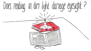 Does Reading in Dim Light Damage Eyesight?