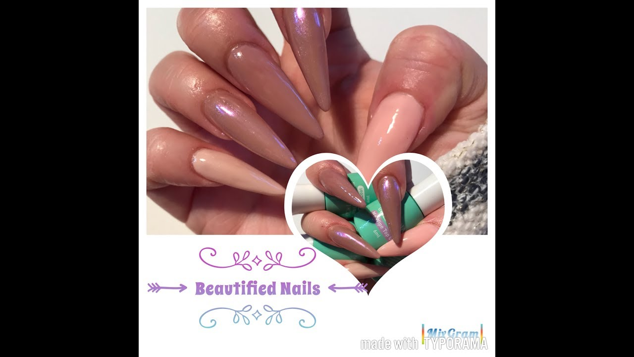 More sculptured uv gel nails using my left hand and New gels from ...