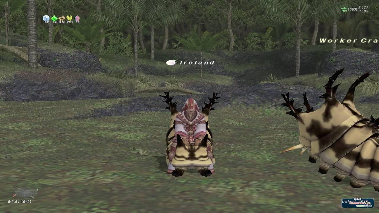 Final Fantasy Xi Ffxi Whm99blm49 Whm White Mage Ireland Riding My Crawler Mount 091016