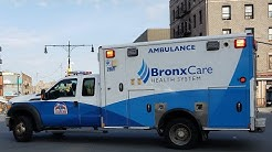Bronx Care Health System EMS Responding On Grand Concourse To A 7Alarm Fire In Concourse, The Bronx