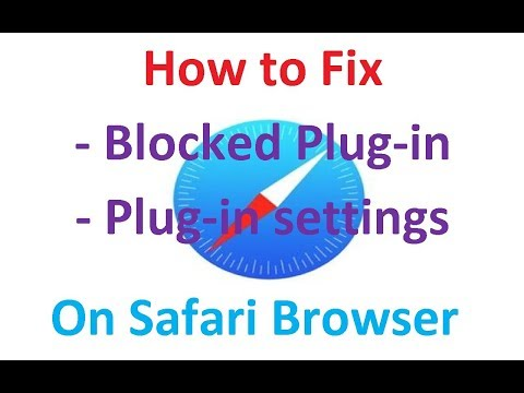 How to fix 'Blocked plug-in' on safari browser