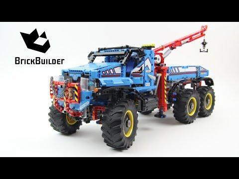 Lego Technic 42070 6x6 All Terrain Tow Truck Lego Speed Build