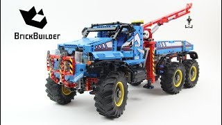 Lego Technic 42070 6x6 All Terrain Tow Truck - Lego Speed build thumbnail