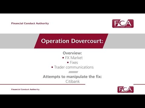 FCA's Operation Dovercourt - Citibank FX failings briefing