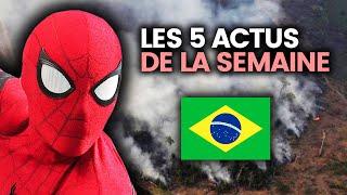 Forêt amazonienne en feu, arnaque sur Booking, G7, Spiderman lâché, Italie... 5 actus de la semaine
