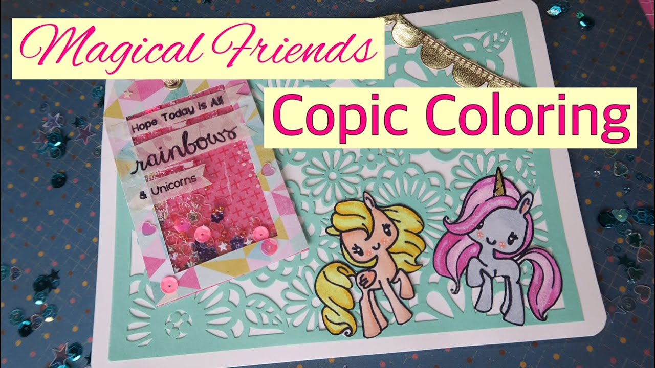 Magical Friends Unicorn Card Process Copic Coloring Featuring The