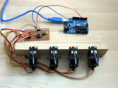Jp Serial Servo Motor Robot Controller Module 4 Ch For