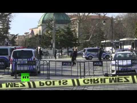 Les premières images après l'explosion dans le centre d'Istanbul