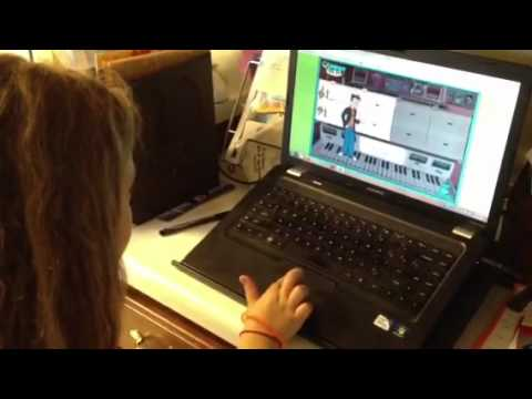 Quaver Q Composer game with 7 year old Kariss - YouTube