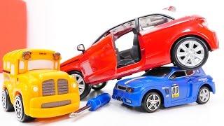 МУЛЬТИКИ сборник. Машинки Басс, Спиди и конструктор: Ауди А1 и Chevrolet. Игрушки для детей
