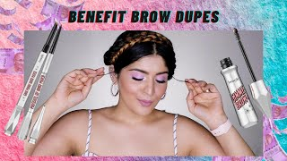 Benefit Brow Dupes | Goof Proof, Gimme Brow & More! | Shreya Jain