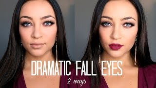 Dramatic Fall Eyes Tutorial | 2 Ways Thumbnail