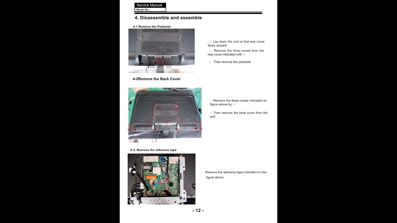 Haier LED TV Service Manual  YouTube