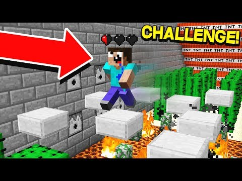PLAYING MINECRAFT WITH HALF A HEART!