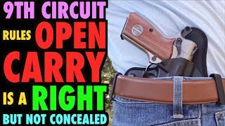 Open Carry in Public is a Constitutional Right (but not concealed carry)