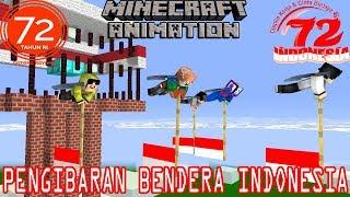 4BROTHER Ft ANTO KEWER PENGIBARKAN BENDERA INDONESIA DILANGIT.Minecraft Animation Spesial HUT RI-72