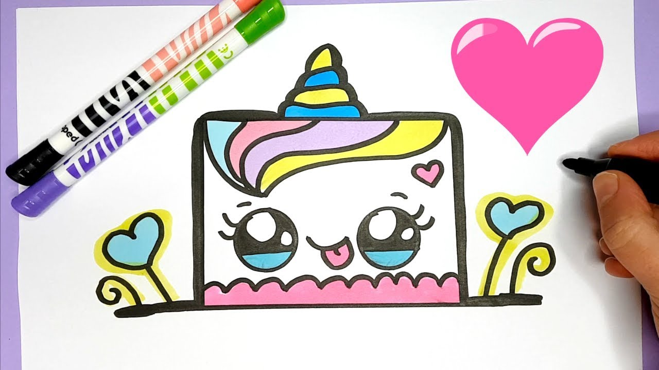 Kawaii Einhorn Kuchen Malen Kawaii Essen Bilder Youtube
